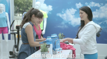 Colun Light Pop up Store mit Kalorien bezahlen