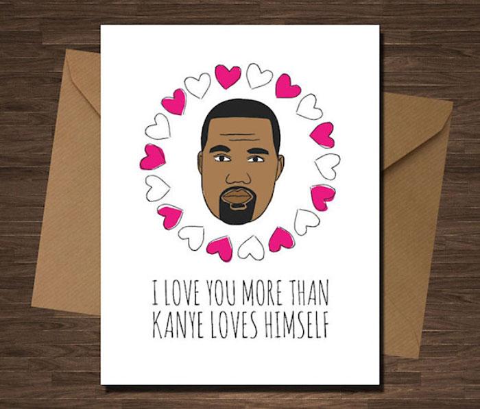 Valentinstagskarte Kanye West