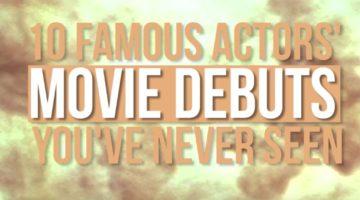 Schauspieler und ihre Anfänge