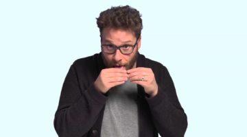 Seth Rogen rolling a Joint