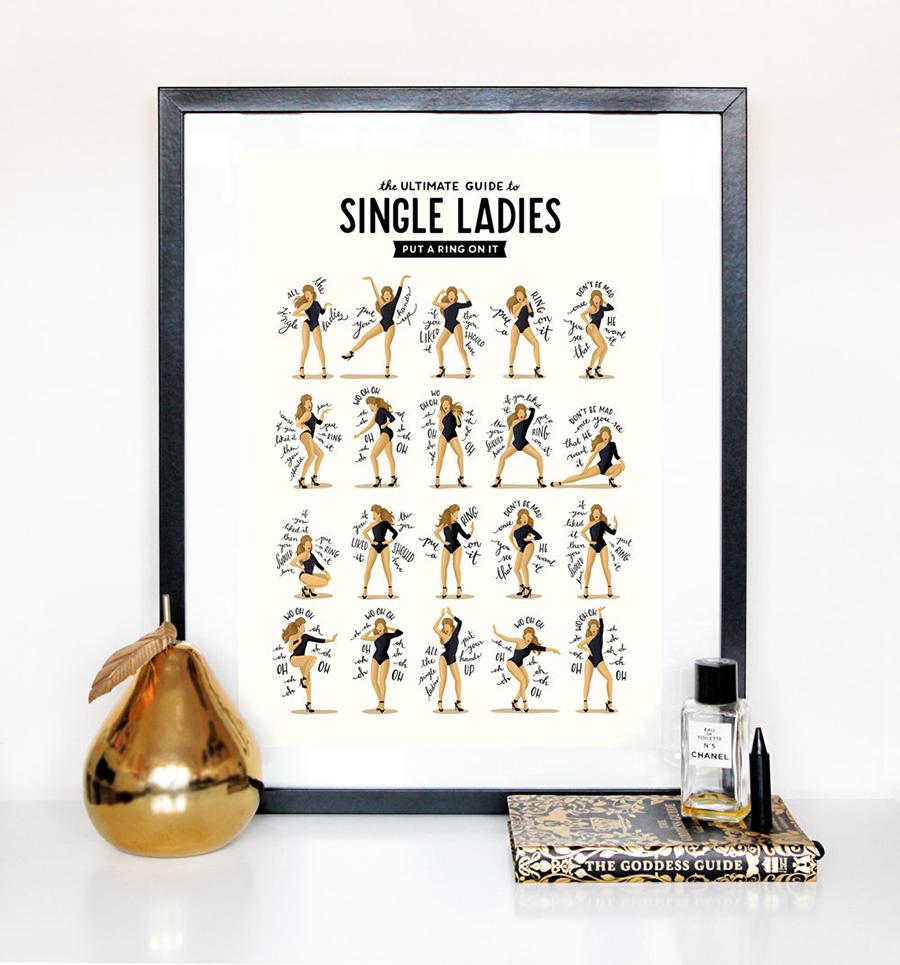 Beyoncé - Single Ladies (Put a Ring on It) Choreo Print