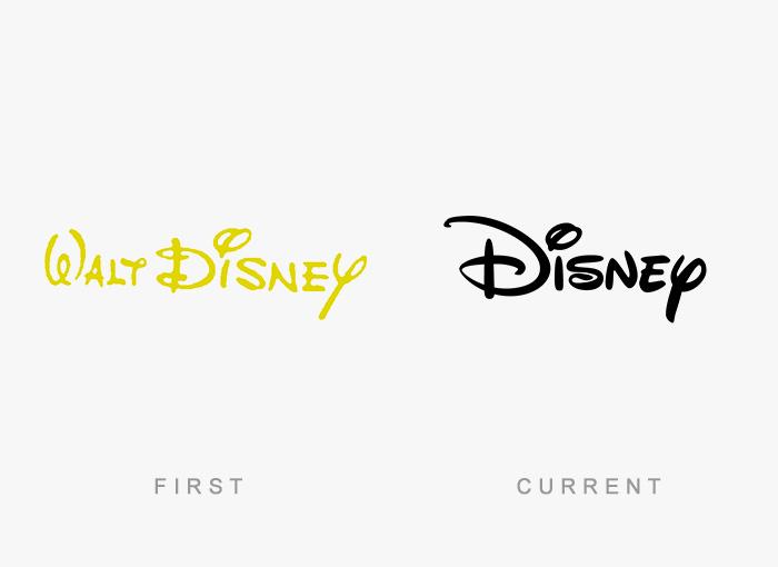 Logo von Disney - Damals und heute