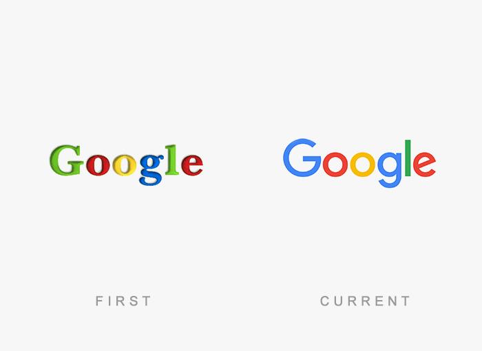 Logo von Google - Damals und heute