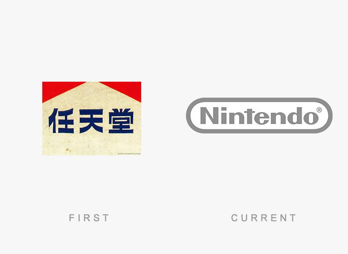 Logo von Nintendo - Damals und heute