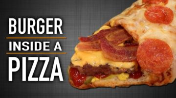 Anleitung: Burger in einer Pizza - Burger Inside A Pizza