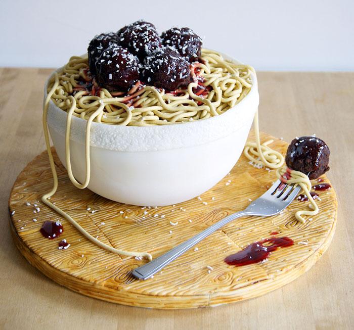 Laura Loukaides Kuchen (Cake) Spaghetti