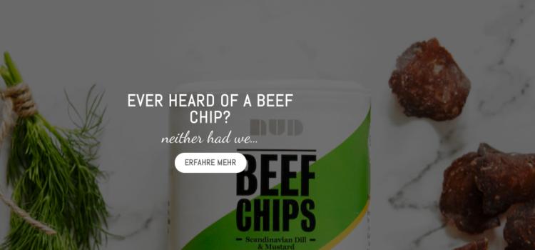 NUD - Beef Chips & Beef Bites - Fleisch / Beef Snacks