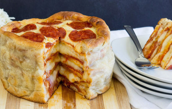 Pepperoni Pizza Kuchen / Pepperoni Pizza Cake