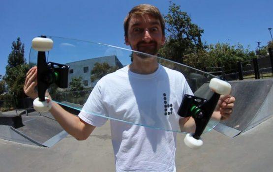 Skateboard aus Glas